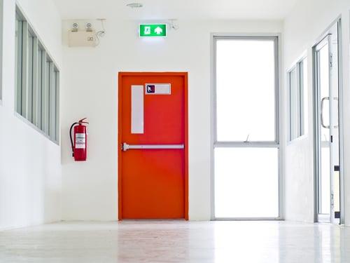 Fire door at Emergency Exit