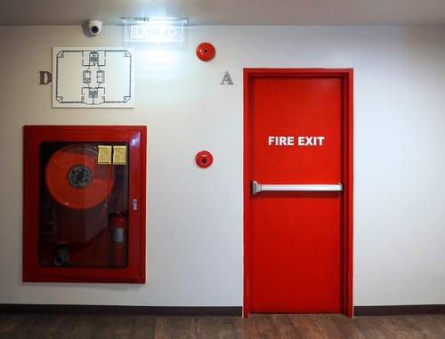 Fire exit emergency door unlocking design