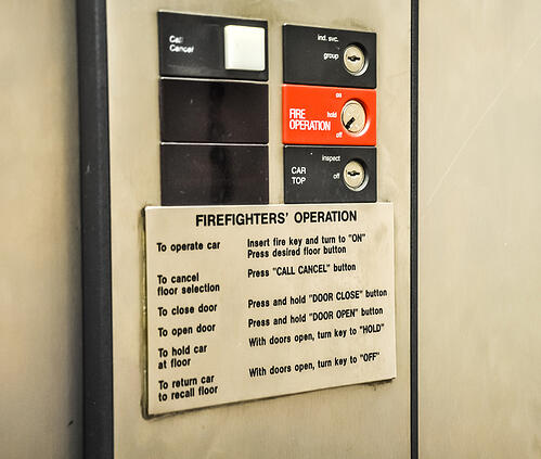 Elevator - fire fighter operation panel
