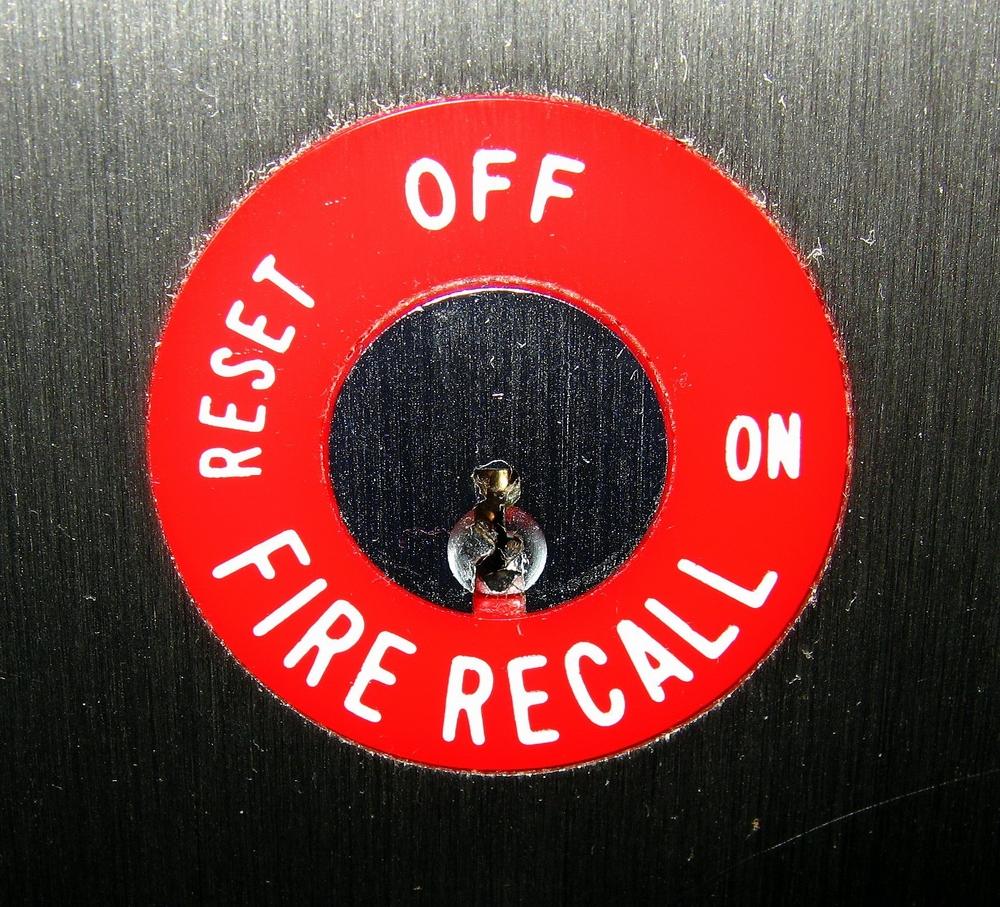 Elevator recall button