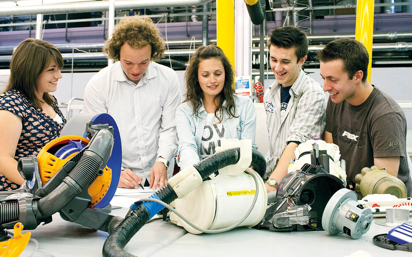 Female engineers working with male colleagues