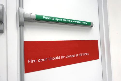 Fire door unlocking design