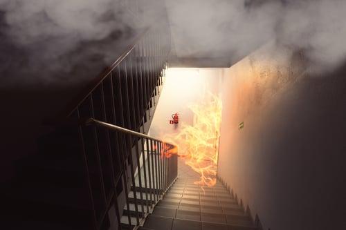 Fire in stairwell-1