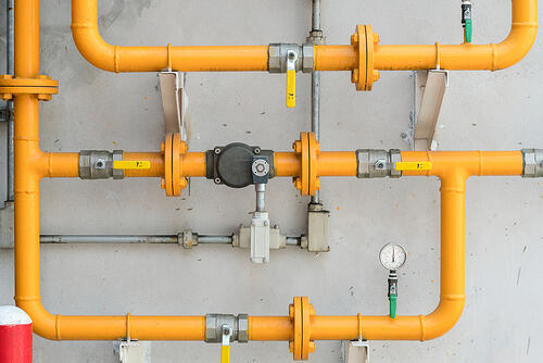 Gas pipe for new gas service