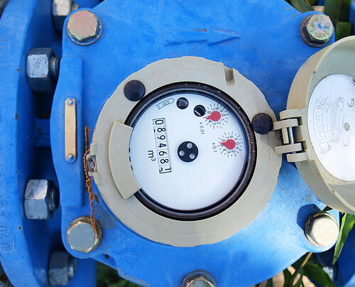 Industrial water meter for new water and sewer service