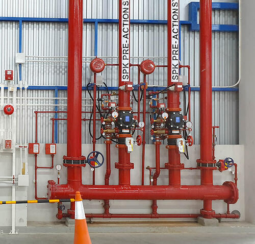 Pipework for pre-action system design