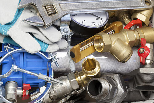 Various plumbing and heating system accessories and parts