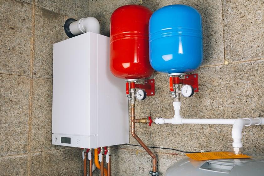SS_modern boiler room independent heating system
