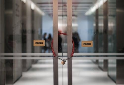 Locked office door