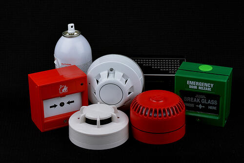 Wireless fire alarm system components