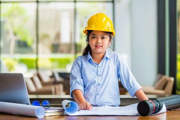 Young girl engineer