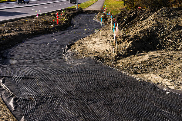 geotextile road