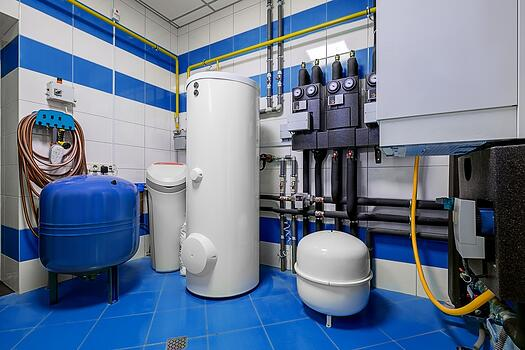 shutterstock_Boiler room with a heating system in a private house