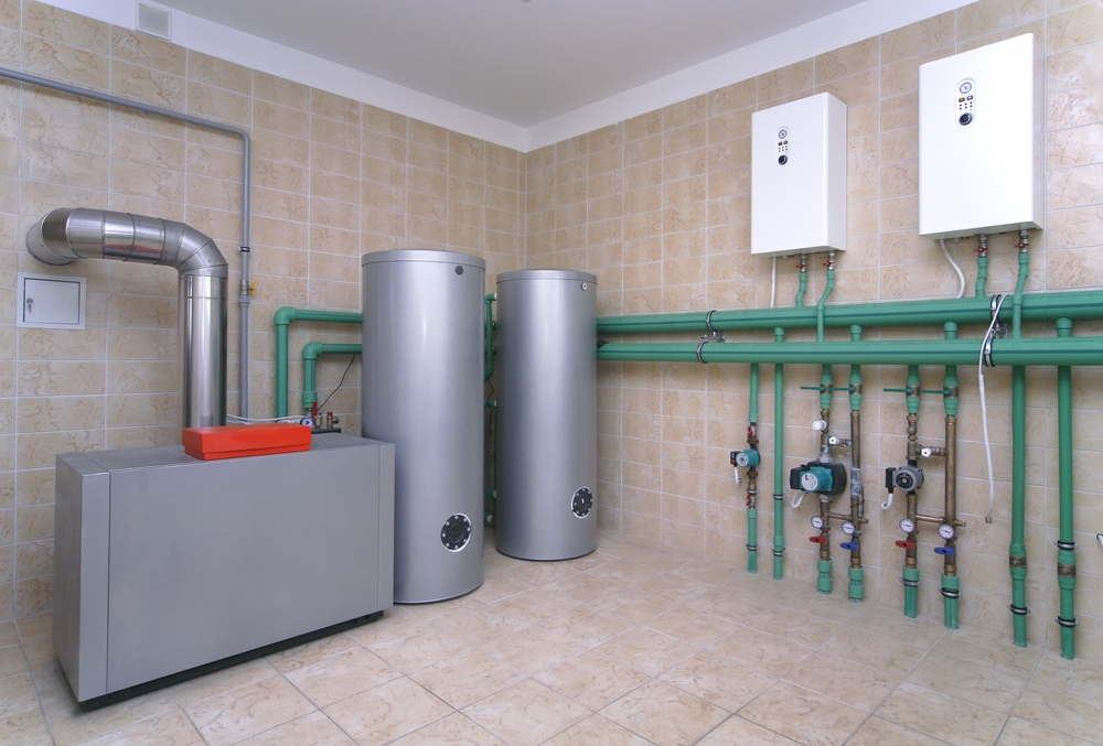 shutterstock_Boiler room with heating system
