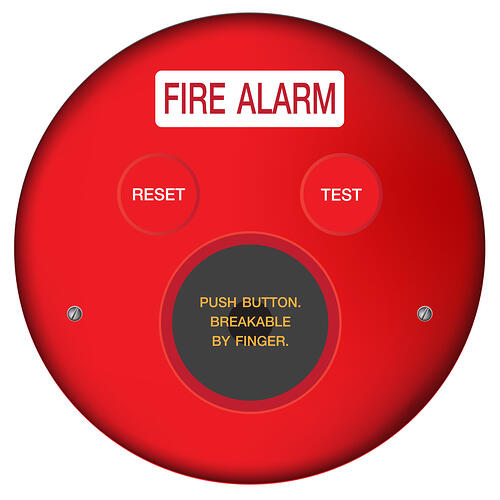 Test fire alarm for mass notification system